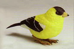 Electric goldfinch bird.