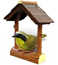 Outdoor common yellowthroat electronic bird.